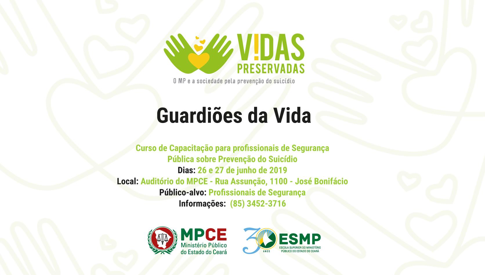Curso de Capacitação para profissionais de Segurança Pública sobre Prevenção do Suicídio