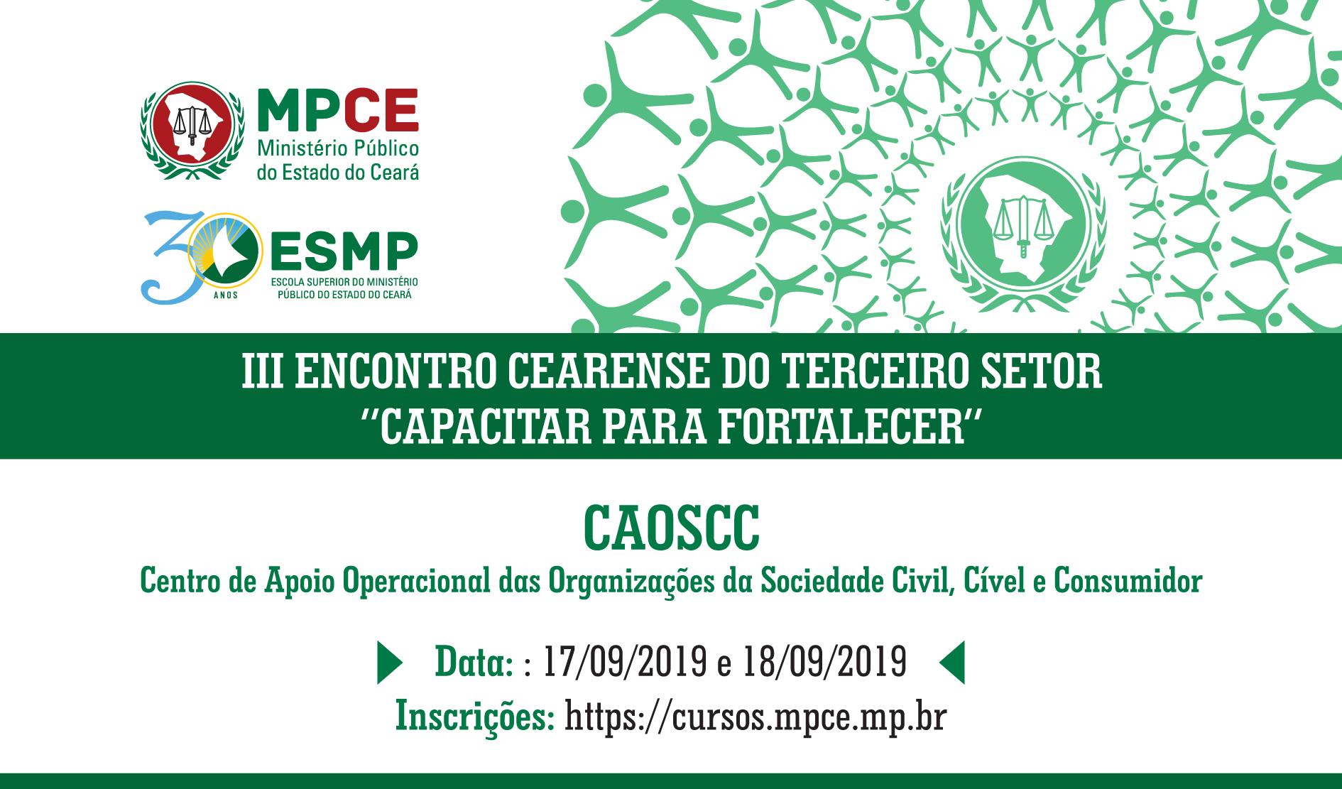 III ENCONTRO CEARENSE DO TERCEIRO SETOR: CAPACITAR PARA FORTALECER