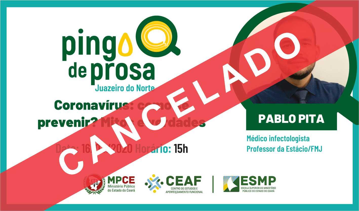 PINGO DE PROSA - CORONAVÍRUS: COMO SE PREVENIR? MITOS E VERDADES