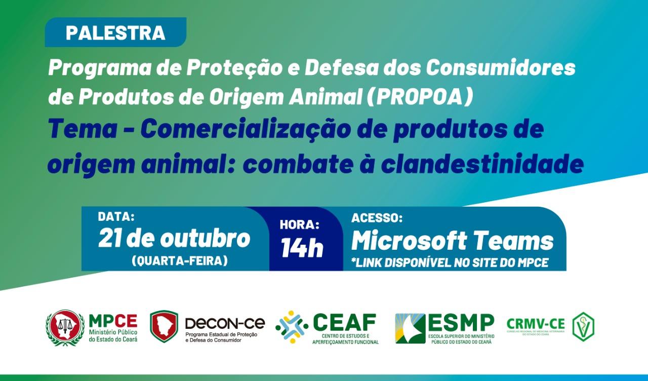 PROGRAMA DE PROTEÇÃO E DEFESA DOS CONSUMIDORES DE PRODUTOS DE ORIGEM ANIMAL - PROPOA
