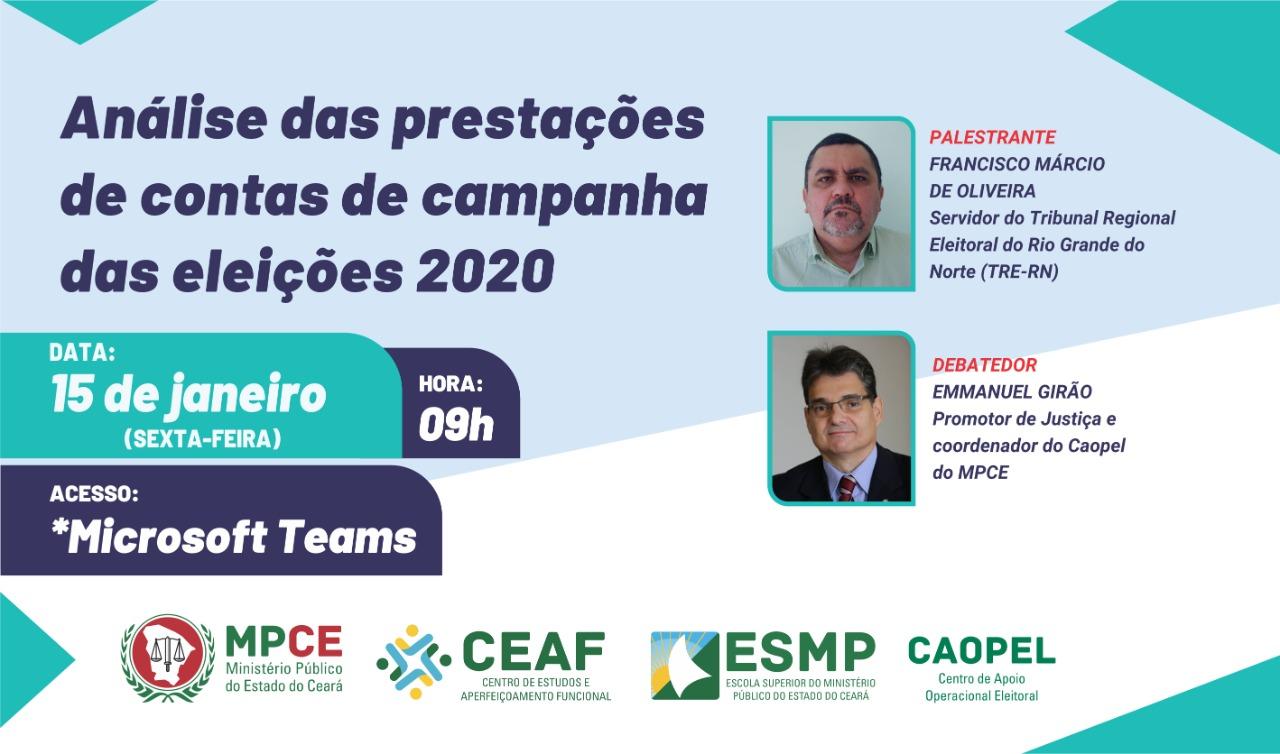 ANÁLISE DAS PRESTAÇÕES DE CONTAS DE CAMPANHA DAS ELEIÇÕES 2020