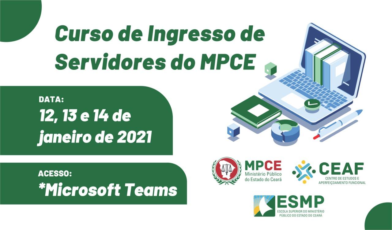 CURSO DE INGRESSO DE SERVIDORES DO MPCE