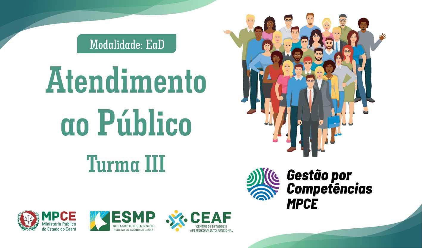 CURSO: ATENDIMENTO AO PÚBLICO - TURMA III
