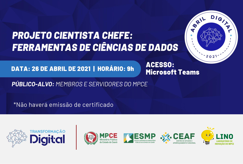 CIENTISTA CHEFE - FERRAMENTAS DE CIÊNCIAS DE DADOS