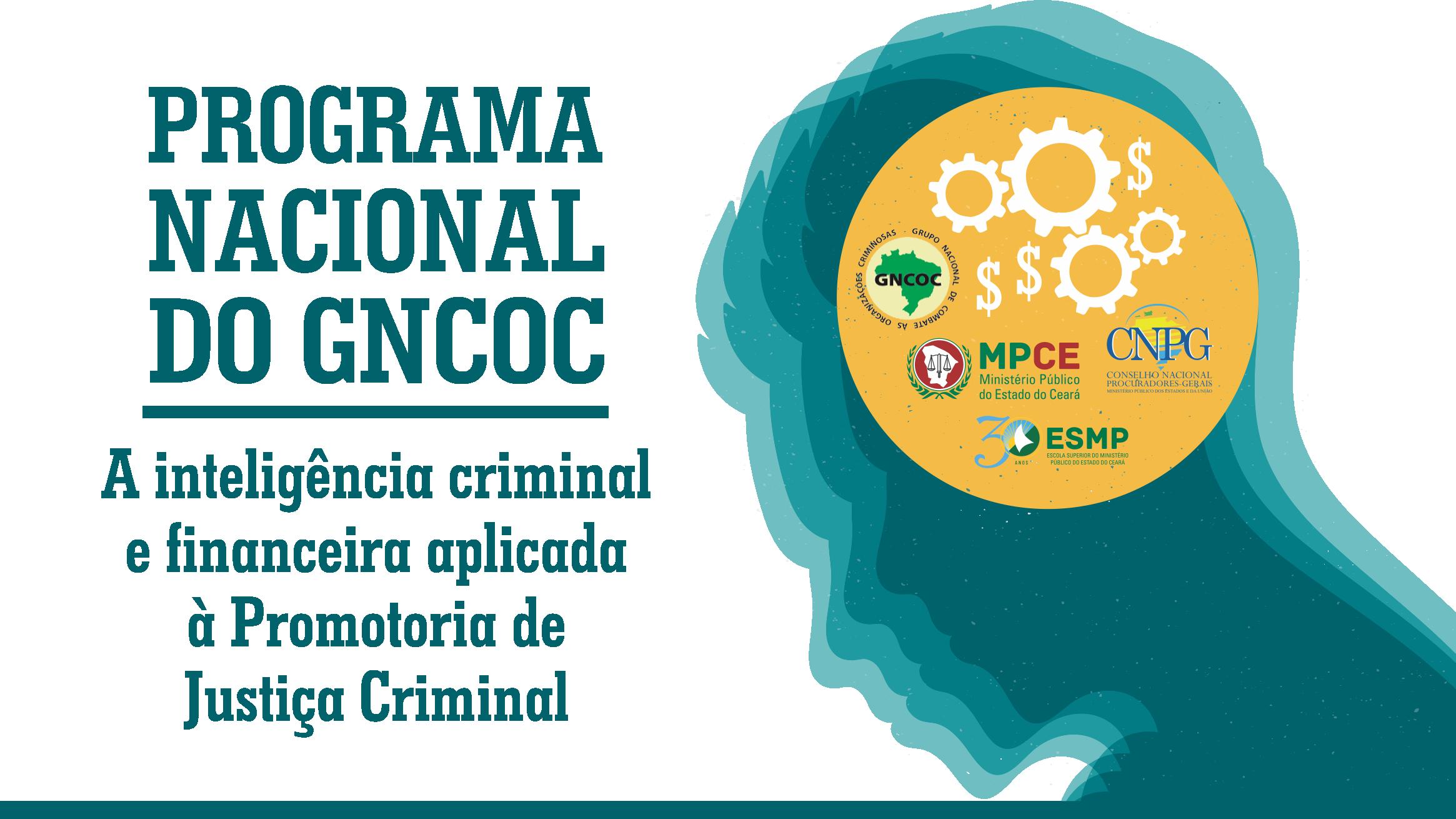 PROGRAMA NACIONAL DO GNCOC - A inteligência criminal e financeira aplicada à Promotoria de Justiça Criminal